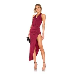 Young Fabulous&Broke Birdseye Maxi Dress in Ruby